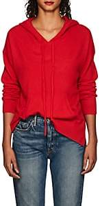 Barneys New York WOMEN'S CASHMERE HOODED SWEATER - RED SIZE XS