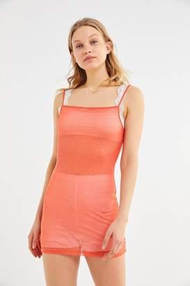 Motel Selah Sparkly Mesh Bodycon Mini Dress