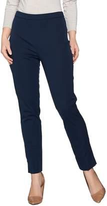 Susan Graver Coastal Stretch Pull-On Slim Leg Pants with Slits