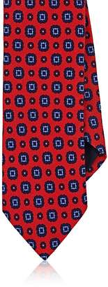 Barneys New York MEN'S MEDALLION-PRINT WOOL-COTTON NECKTIE