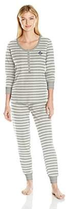 Tommy Hilfiger Women's Long Sleeve Thermal Pajama Set Pj