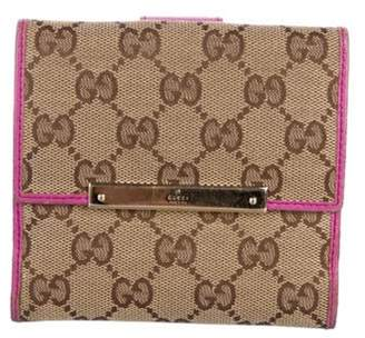 Gucci GG Canvas Compact Wallet Brown GG Canvas Compact Wallet
