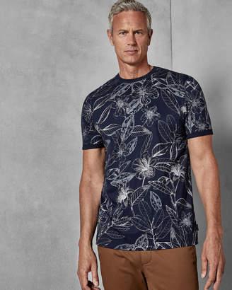 Ted Baker BOTATT Floral print cotton T-shirt