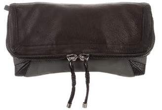 Devi Kroell Python-Accented Foldover Clutch