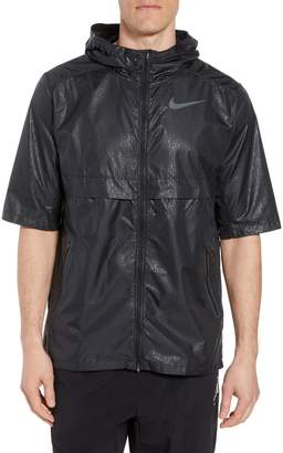 Nike Running Shield Short Sleeve Hooded Jacket