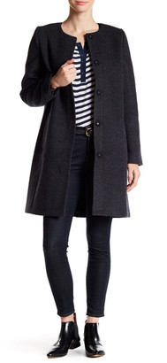 Madewell Long Wool Blend Coat $328 thestylecure.com