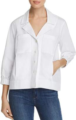 Donna Karan Cropped Button-Front Jacket
