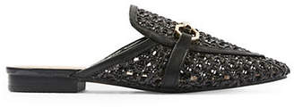 Topshop Liza Woven Loafer Mules