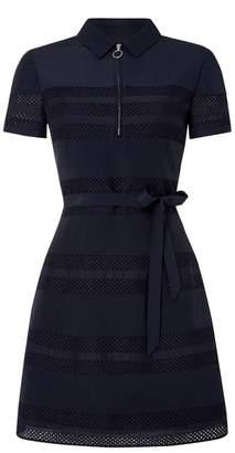 Aquascutum London Carmel Zip Front Panel Dress
