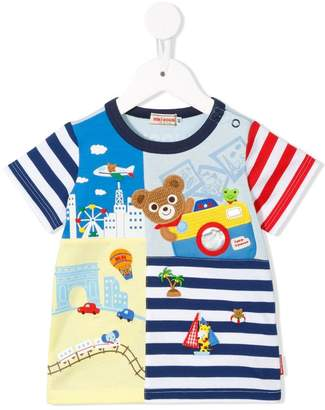 Mikihouse Miki House appliqued T-shirt