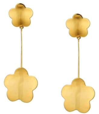 Asha Delphine Floral Drop Earrings