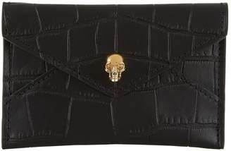 Alexander McQueen Croc Embossed Envelope Card Holder