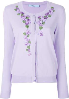 Blumarine floral embroidered cardigan
