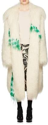 Dries Van Noten Women's Feather-Trimmed Faux-Shearling Jacket