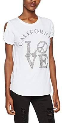 True Religion Women's Slit White T-Shirt,S