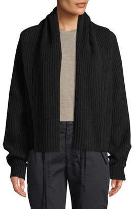 Vince Oversized Shawl-Collar Wool Cardigan