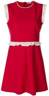 RED Valentino ruffle trim mini dress