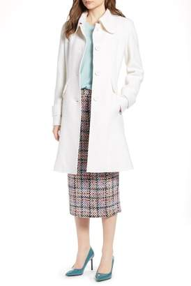 Halogen Boiled Wool Blend Fit & Flare Coat (Regular & Petite)