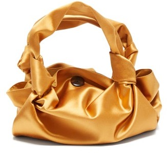 The Row The Ascot Silk Satin Clutch Bag - Womens - Yellow