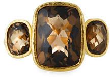 Elizabeth Locke 19k Custom Smoky Quartz Ring