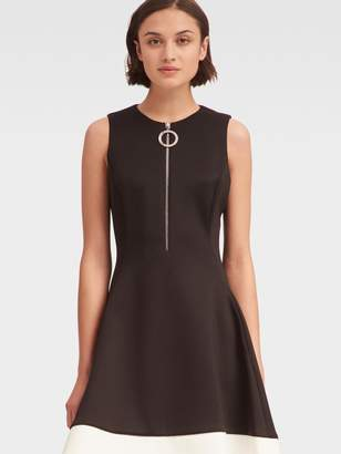 DKNY Fit-And-Flare Dress With Front Zipper