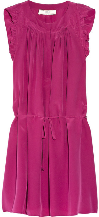 Vanessa Bruno Athé Ruffled silk crepe de chine dress