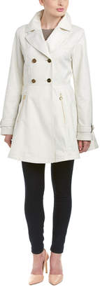 Laundry by Shelli Segal Flared Trench Coat