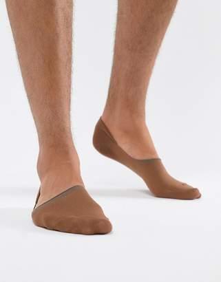 Asos Design DESIGN Invisible Liner Socks In Medium Skintone