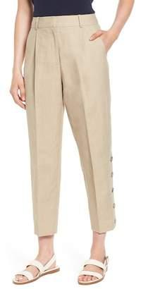 Blend of America Lewit Button Side Crop Linen Pants