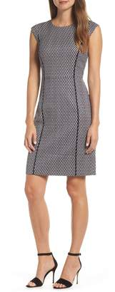 J.Crew Cap Sleeve Matelasse Dress