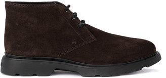 Hogan H304 Brown Suede Ankle Boots.