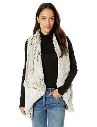 Democracy Women's Drape Front Faux Fur Vest