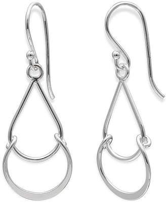JCPenney STERLING SILVER EARRINGS Sterling Silver Double Tear Drop Earrings
