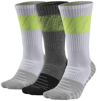 Nike Mens 3 Pair DRI-FIT Max Cushion Training Crew Sock - Big & Tall