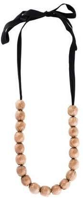 Marni Plastic Coated Bead Strand Necklace