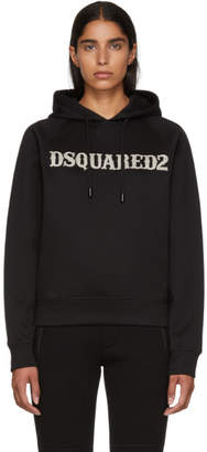 DSQUARED2 Black Logo Cool Fit Hoodie