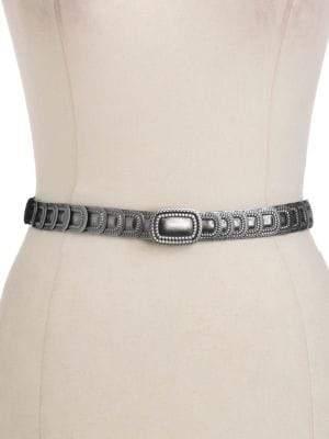 Fashion Focus Silvertone Stretch Metal Belt