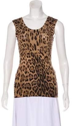 Dolce & Gabbana Sleeveless Leopard Print Top