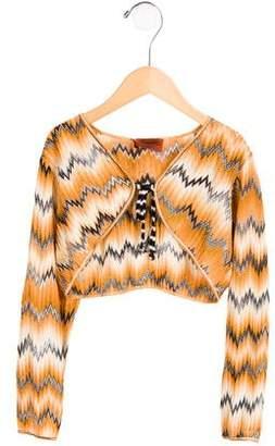 Missoni Kids Girls' Patterned Long Sleeve Bolero w/ Tags