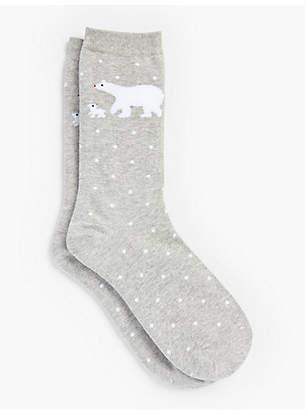 Talbots Polar Bear Trouser Socks