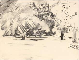 "Serena & Lily ""Monochrome Expressinoist Park Scene"" by Jack Freeman"