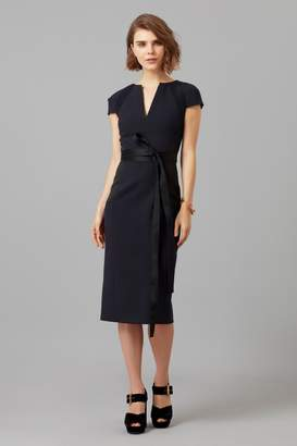 Amanda Wakeley Midnight Sculpted Fitted Dress