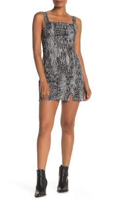 BeBop Snakeskin Print Sleeveless Mini Dress
