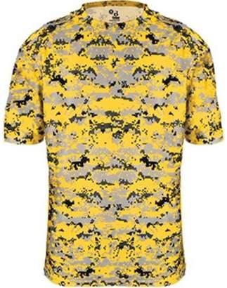 Badger Sportswear 4180 Badger Men's Short Sleeve Sublimated Camo Tee - Gold Digital - Small