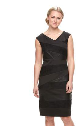 Jax Women's Spliced Faux-Leather Sheath Dress