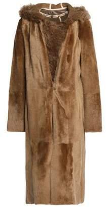 Yves Salomon Shearling Hooded Coat