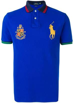 Polo Ralph Lauren crest-embellished polo shirt