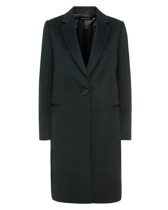Jaeger Wool Contrast Crombie Coat