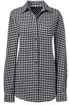 classic Women's Plus Size Long Sleeve Flannel Shirt-Rich Red Windowpane $59 thestylecure.com
