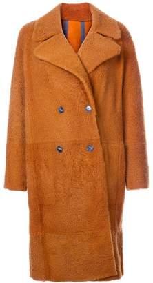 Yves Salomon oversized shearling coat